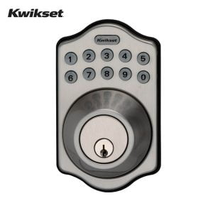 Kwikset Arch Electronic Deadbolt with Lighted Keypad (Satin Nickel)