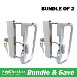 (Bundle of 2) KeyDirect - Patio Lock w/ Hook and Key