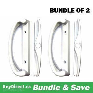 (Bundle of 2) KeyDirect  -Patio Lock w/ Single Latch