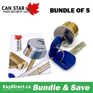 (Bundle of 5) CanStarLock - High-Security Mortise Cylinder