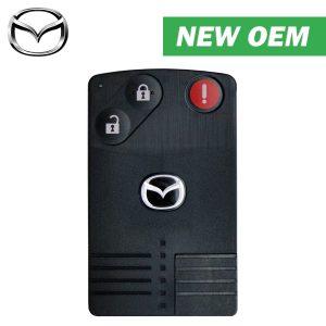 2006-2009 Mazda / 3-Button Smart Card Key / PN: TDY2-67-5RYA / BGBX1T458SKE11A01 (OEM)