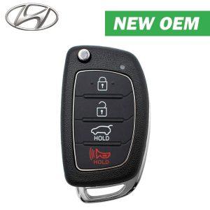 2015-2019 Hyundai Tucson / 4-Button Remote Flip Key / PN: 95430-D3000 / TQ8-RKE-4F25 / Canadian Version (OEM)