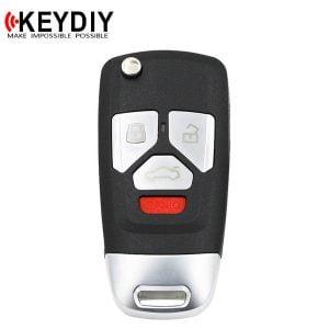 KEYDIY - Audi Style / 4-Button Flip Key Blank (KD-B27-4)