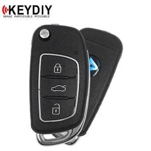 KEYDIY - Hyundai Style / 3-Button Flip Key Blank / Black (KD-B16)