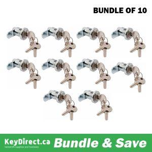 Bundle of 10 / Wind Rear Load Mailbox Lock 3970W