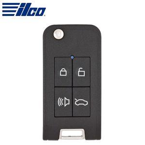 Ilco - Smart4Car™ Remote Keyless Entry Flip Key Housing with GTI Transponder (Key blade sold separately)  / IRKEHF-GTI